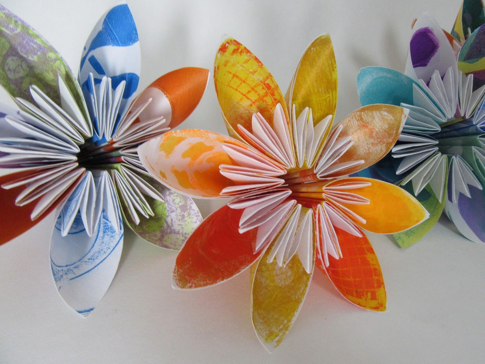 Printing With Gelli Arts Modular Origami With Gelli Prints