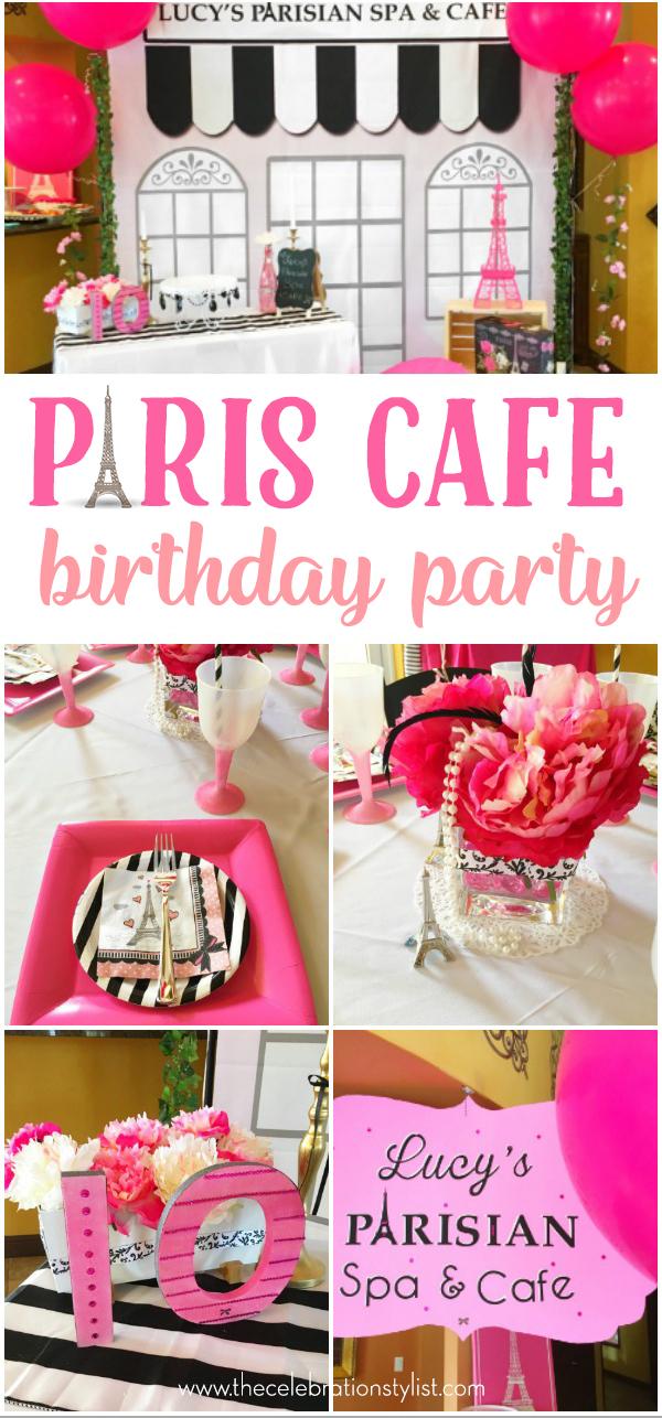 Parisian Cafe: A Paris Birthday Party by Celebration Stylist