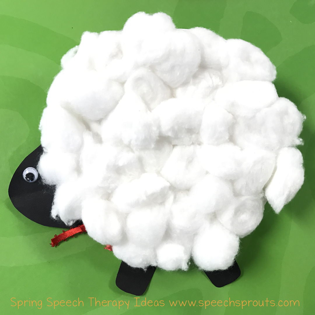 Speech sprouts fresh speech therapy ideas for spring read sheep speech therapy storybook fun with sheep in a shop plus a cute lamb craft for spring jeuxipadfo Images
