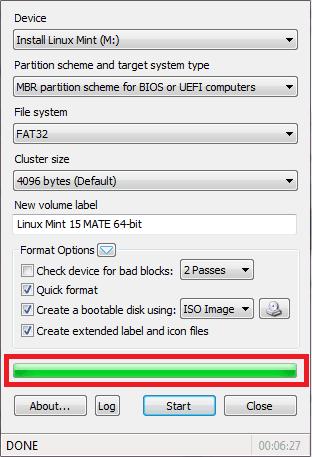pembuatan bootable flashdisk telah selesai