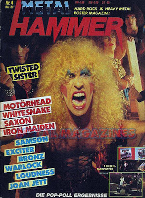 Twisted Sister on the cover of Metal Hammer magazine March 1984
