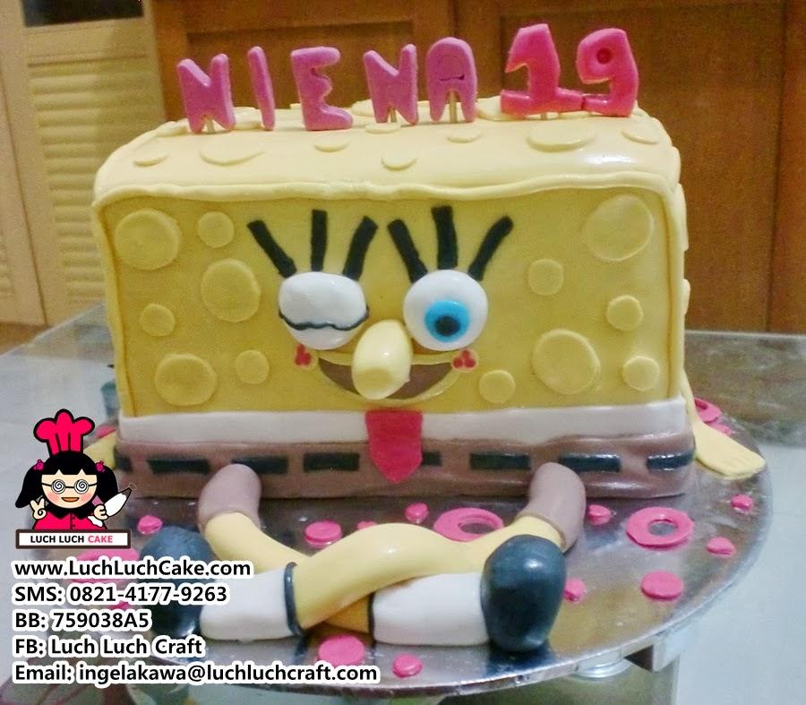 Luch Luch Cake Kue Tart 3d Spongebob Daerah Surabaya