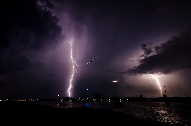 Lightning, lightning strike, night, storm, nature, weather, thunder, strike, night sky,