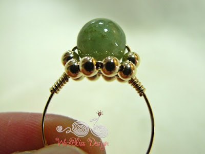 Dainty wire wrapped jade rings-Daisy Ring