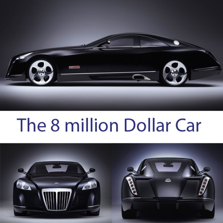 Fast Cars Maybach Car The 8 Million Dollar Phots