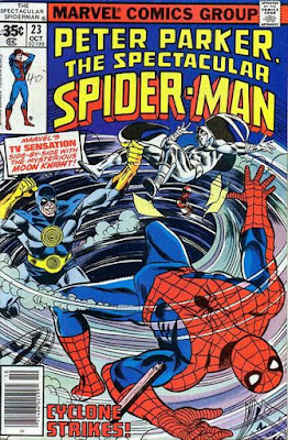 Spectacular Spider-Man #23, the Cyclone and Moon Knight
