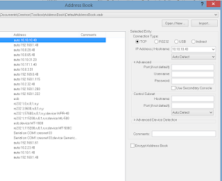 image of crestron address book utility