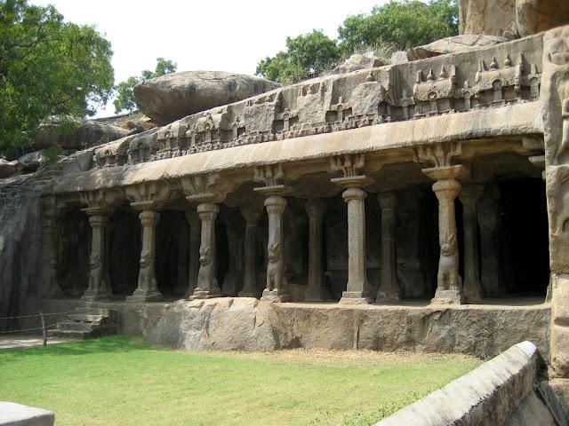 The Krishna Cave Temple - Pallava architecture Mahabalipuram