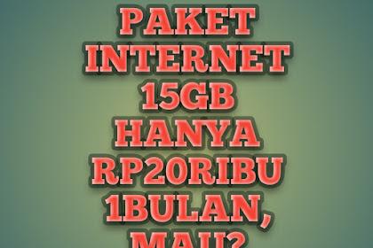 Paket 15gb hanya Rp20ribu Telkomsel, Mau?