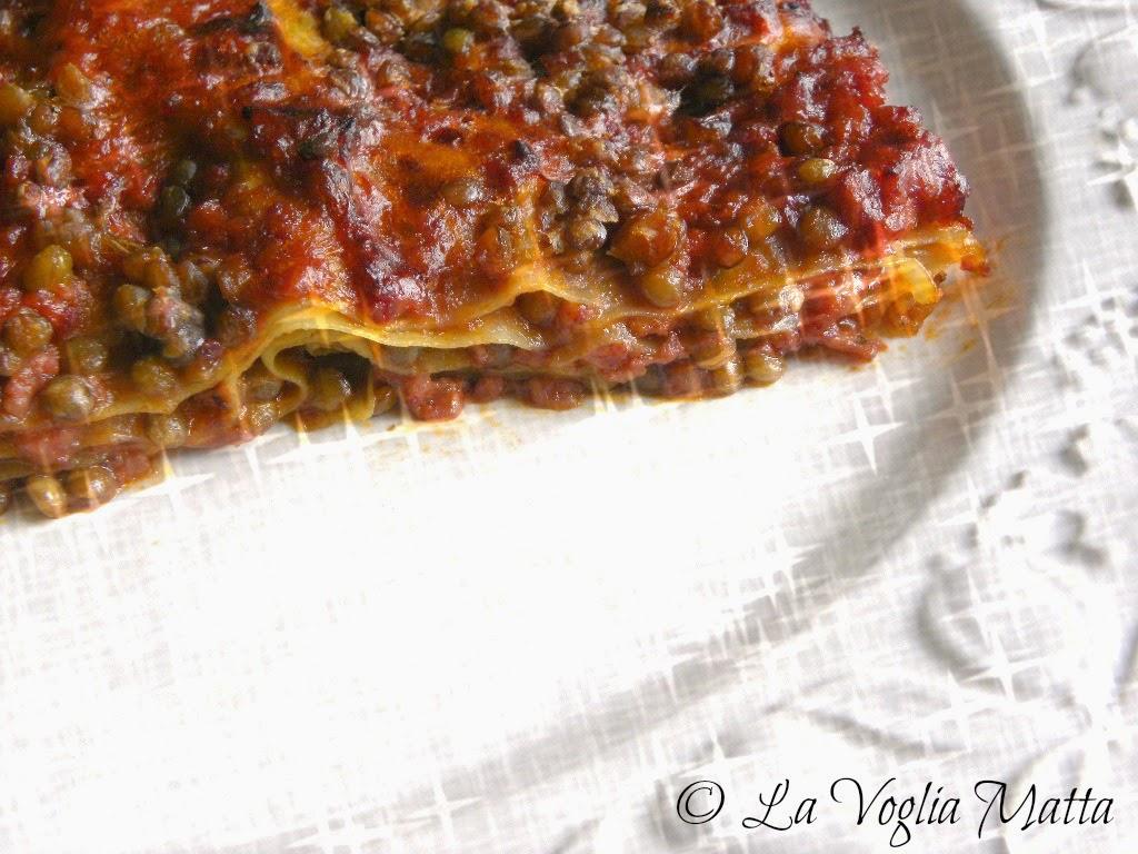 lasagne con  lenticchie e ragù di cotechino