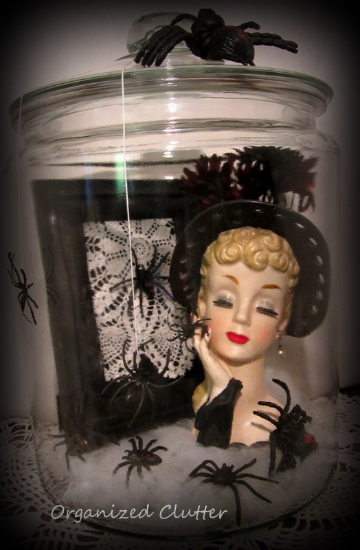 Halloween Decorating With Head Vases The Black Widow Organized