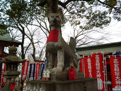 高倉稲荷神社白狐
