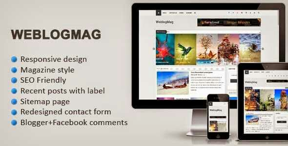 Weblog Mag - Responsive Magazine Blogger Template - News blog