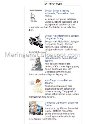 Popular Post di Blogspot