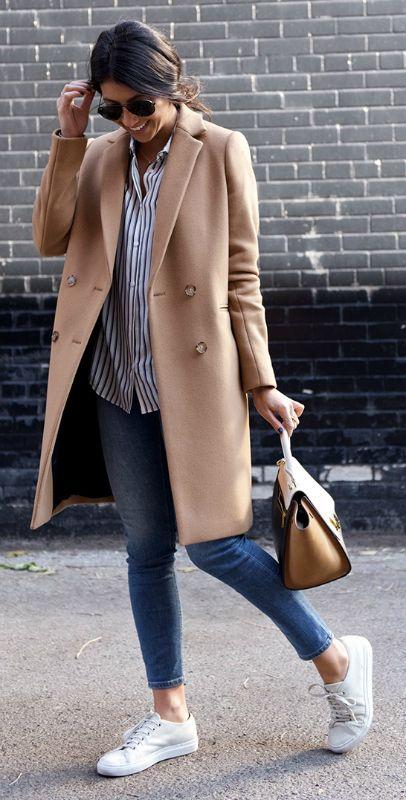 inspiracje, płaszcz, trampki, wiosna, blog, stylizacja