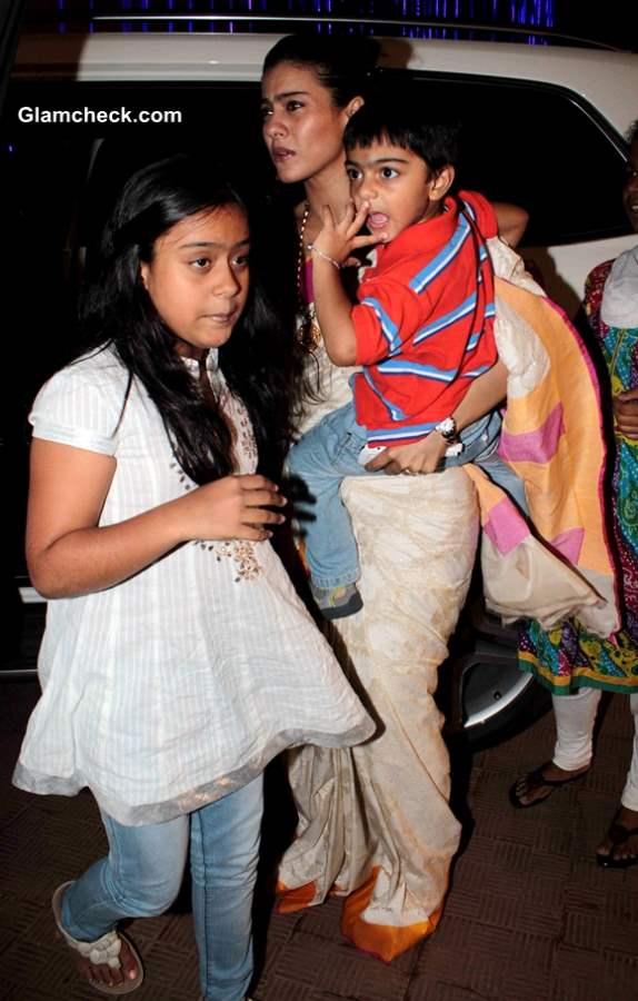 Kajol & her Son-daughter