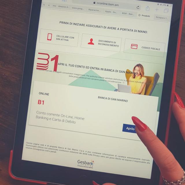 B1. Il conto corrente online a zero costi a portata di click