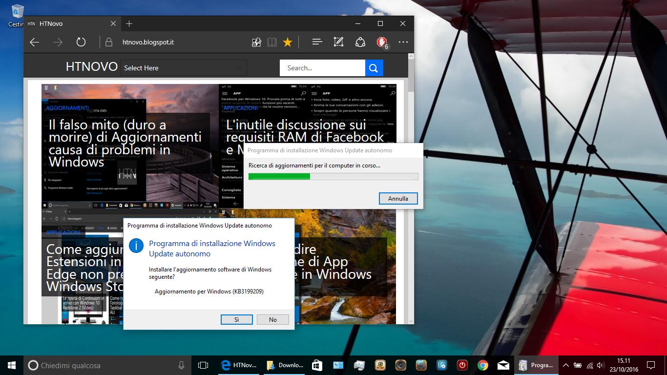 Come installare manualmente gli Aggiornamenti di Windows 10 HTNovo