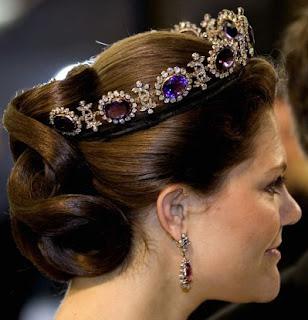Napoleonic Amethyst Parure Tiara Sweden Crown Princess Victoria