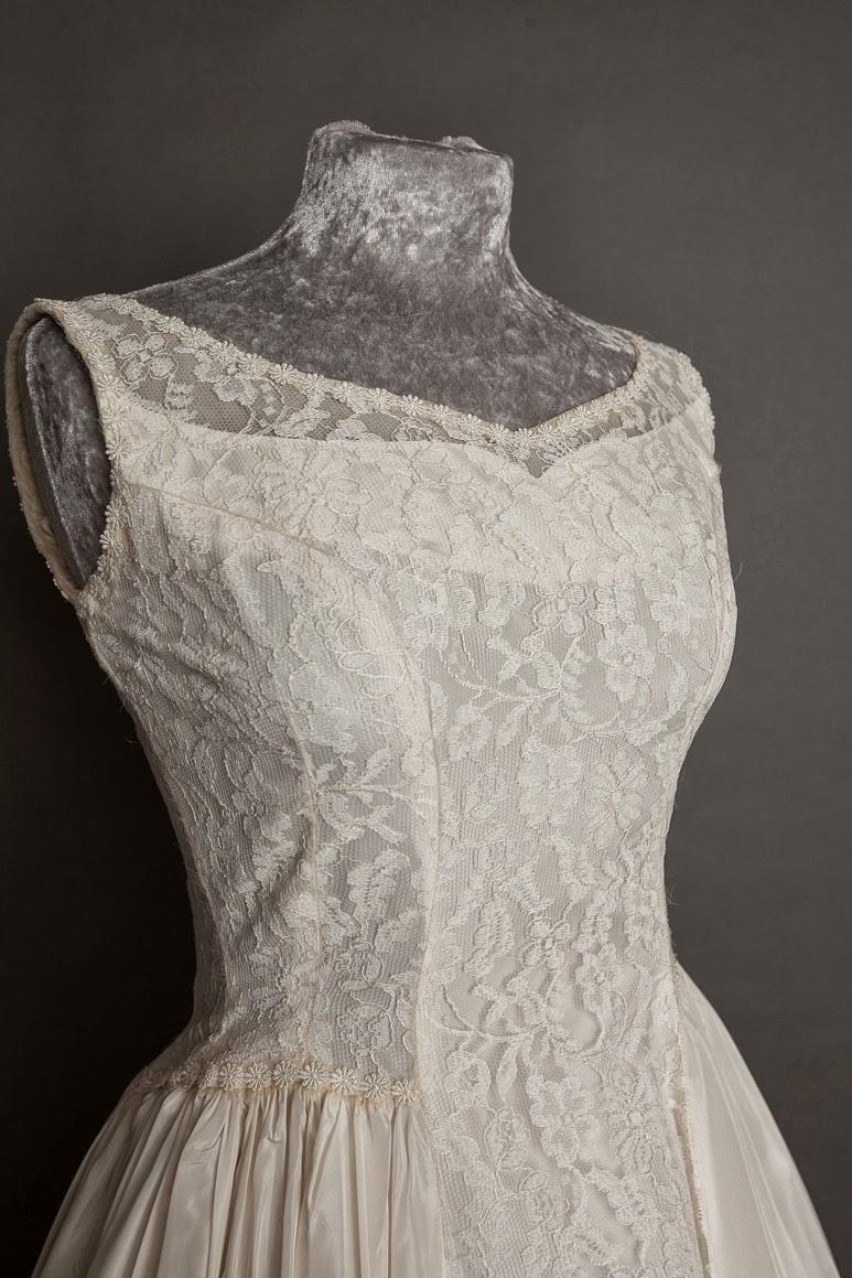 1950s Vintage Lace Wedding Dresses C Heavenly Brides Emma Domb Sleeveless Dress