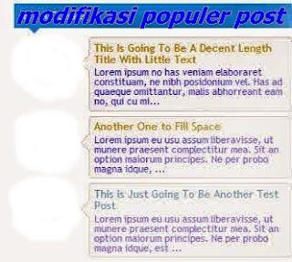 Cara Modifikasi Popular Post  Berwarna dan Berputar di blogger