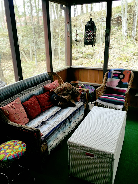 Boho Chic Vermont Screened Porch