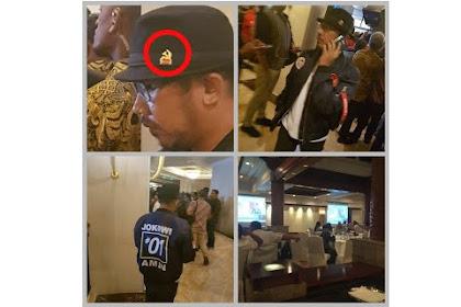 Heboh, Pria Berjaket 01 Pakai Topi Lambang PKI Hadir di Debat Capres