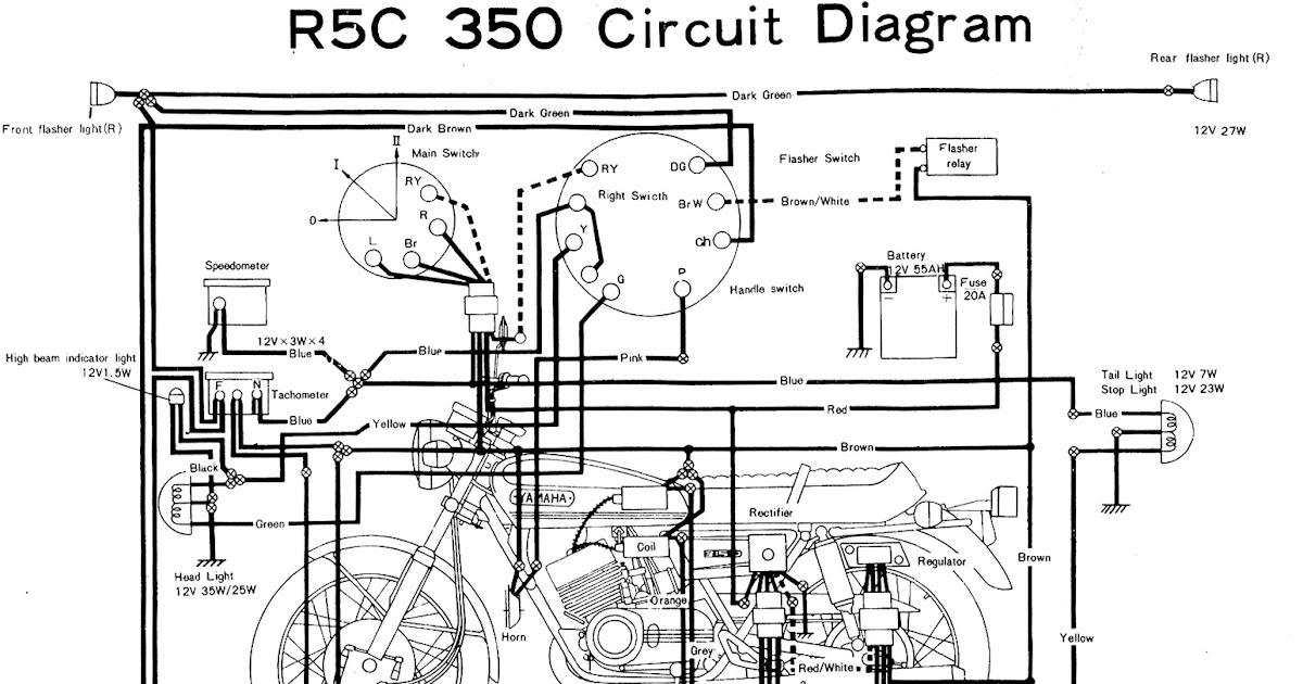 ELECTRONIC CIRCUIT DIAGRAM | ELECTRO SCHEMATIC: YAMAHA R5C 350 ELECTRONIC DIAGRAM