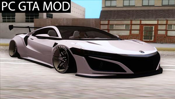 Free Download Acura NSX Liberty Walk L3D Works Matrix Mod for GTA San Andreas.