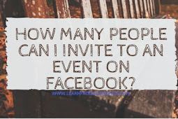 How many people can I invite to an event on Facebook?