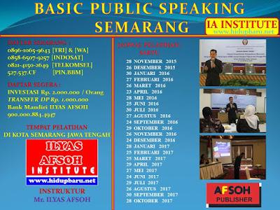 Jadwal Pelatihan Public Speaking Semarang 2016-2017