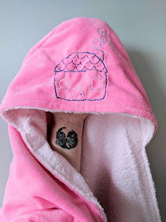 embroidery hooded baby towel charm about you lucy brennan