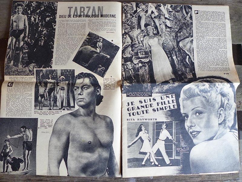 Rita Hayworth pour le film Tarzan
