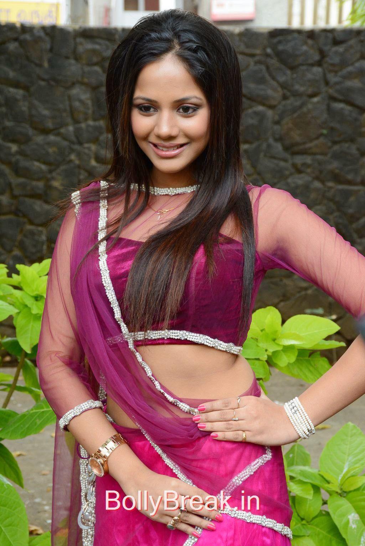Aishwarya Dutta Photo Gallery, Aishwarya Dutta Navel Pics in Pink Saree