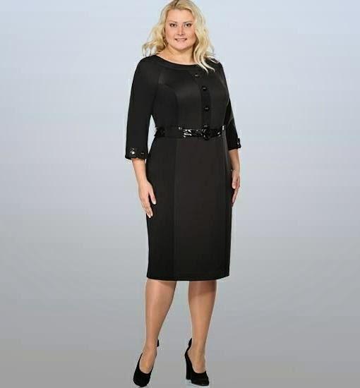 Стильные платья для полных женщин