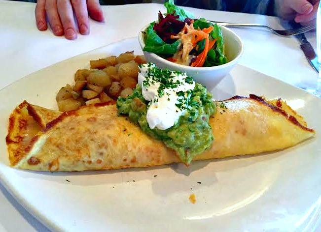 breakfast crepe at Epicure Bistro