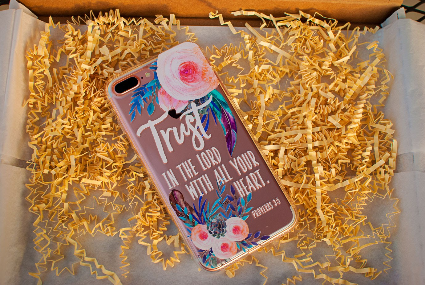 Prone To Wander Phone Case With Floral Design and Bible Verse