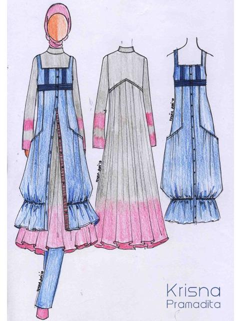 Sketsa Desain Baju Muslim Model Baju Terbaru 2019