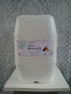 Mezcla de aceite de silicona con tensoactivo.