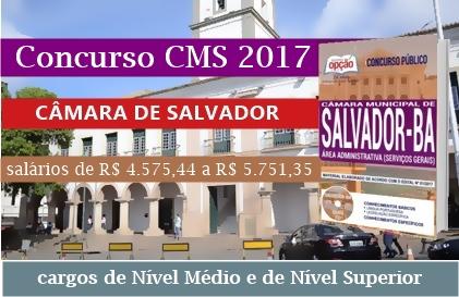 EDITAL concurso CMS salvador 2017