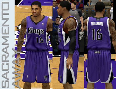 NBA 2K13 Sacramento Kings Away Jersey