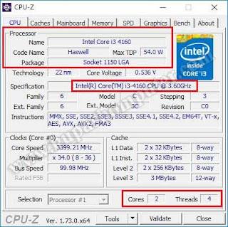 Mengetahui jenis prosesor menggunakan CPU-Z.jpg