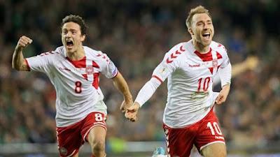 Denmark Rebut Jatah Terakhir UEFA ke Piala Dunia 2018