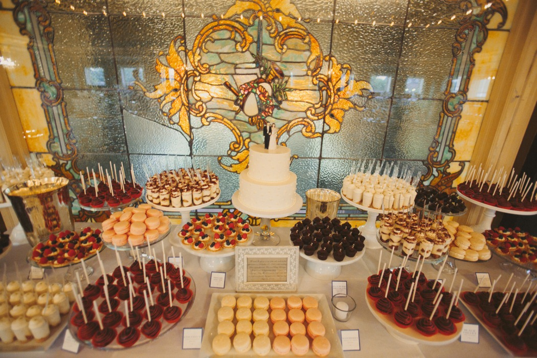 cocoa fig classic 2 tier cake and mini dessert table katy dave. Black Bedroom Furniture Sets. Home Design Ideas