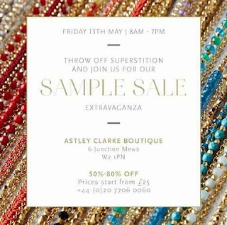 Astley Clarke Sample Sale 2016 jewellery blog