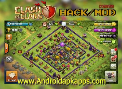 Download Clash of Clans v7.65.5 Mod Hack APK (Unlimited Gold Infinite Gems Dark Elixir) Update Terbaru 2015