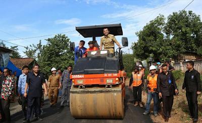 Perbaikan Jalan Provinsi di Pekon Ambarawa Pringsewu Masuk APBD 2018