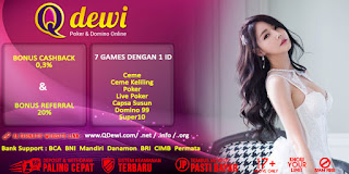 Promo Bonus Agen Super10 Judi Online QDewi - www.Sakong2018.com