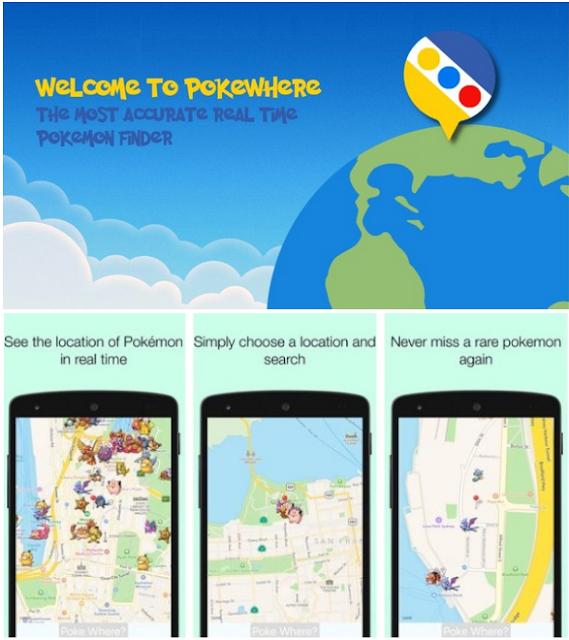 Cara Menangkap Pokemon Pada Game Pokemon Go Menggunakan Aplikasi Radar Pokemon Pokewhere Apk