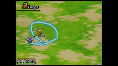 Un moment de capture dans le jeu Pokémon ranger